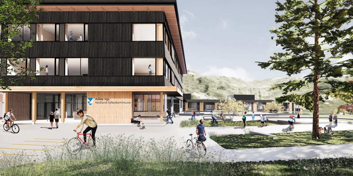 Askøy VGS nybygg og rehabilitering av eksisterende skole